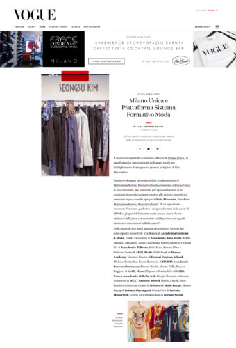 vogue milano unica